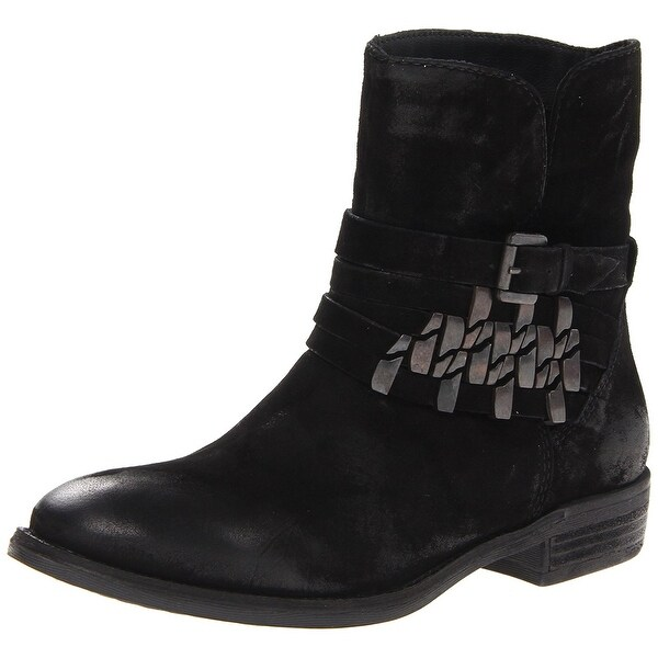 STEVEN by Steve Madden Womens Traker Leather Closed Toe Ankle Fashion Boots