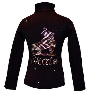 Ice Fire Skate Black Jacket Vitrail Skate Rhinestone Girl 4-Women L