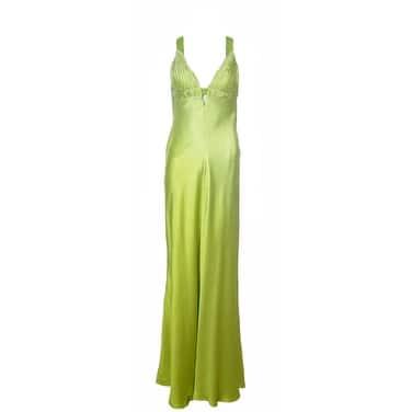Aidan Mattox Niteline Chartreuse Green 100/% Silk Ruched Short Party Dress 4