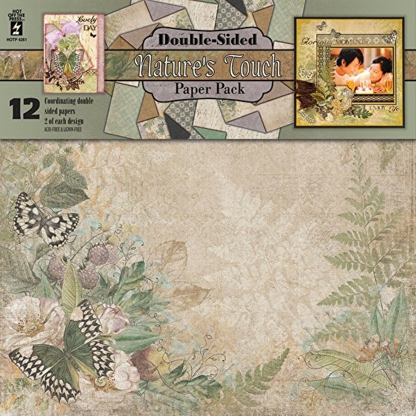 "Hot Off The Press Double-Sided Paper Pack 12""X12"" 12/Pkg-Nature's Touch"
