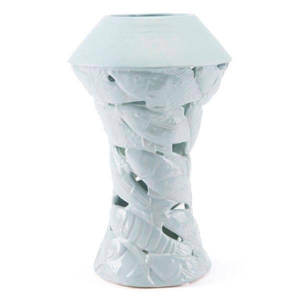 Lovely Sea-Inspired Vase In Soft Blue
