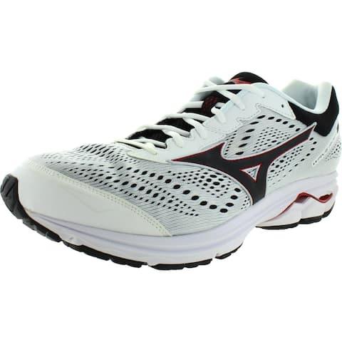 Mizuno Mens Wave Rider 22 Running Shoes Sport Comfort - White/Black/Red - 15 Medium (D)