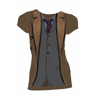 Doctor Who Classic Womens T-Shirt 10Th Doctor Costume Sound Of Drums Variant