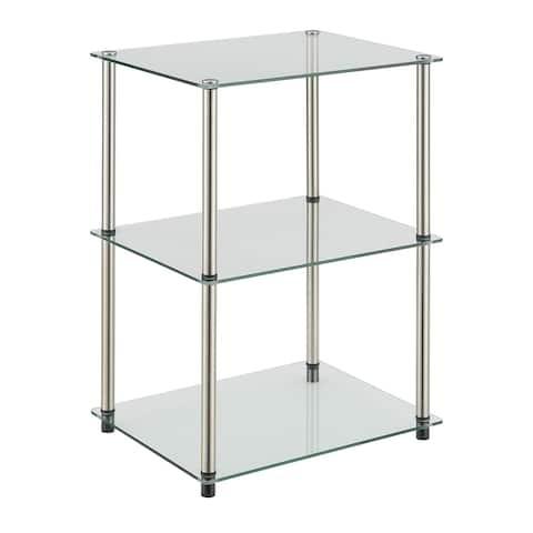 Porch & Den Japonica Classic Glass 3-Tier End Table