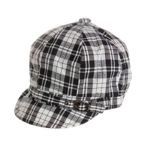 Womens Plaid Summer Cabbie Hat