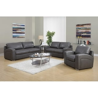 Monarch Specialties Bonded leather sofa II Bonded Leather Sofa
