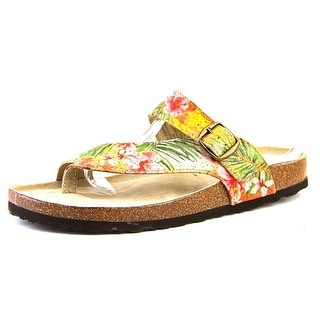 White Mountain Carly Open Toe Canvas Thong Sandal