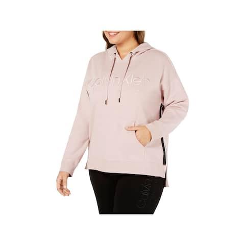 Calvin Klein Performance Womens Plus Hoodie Sweatshirt Fitness