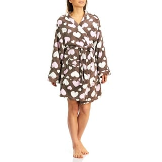 PJ Couture Women's Hearts Wrap Bathrobe