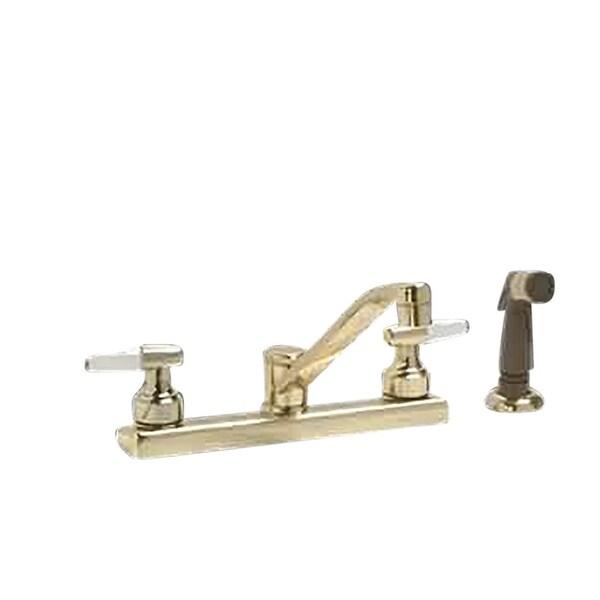 Shop Widespread Kitchen Faucet Brass 2 Handles W Sprayer