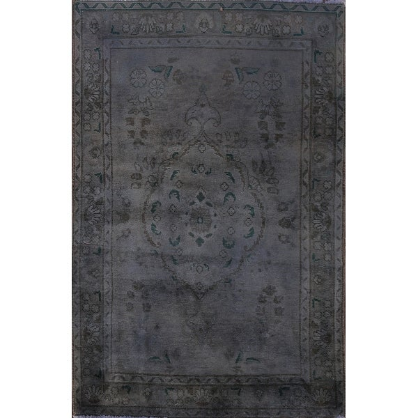 """Clearance Vintage Over-dyed Tabriz Persian Wool Area Rug Hand-knotted - 3'3"""" x 5'1"""". Opens flyout."""