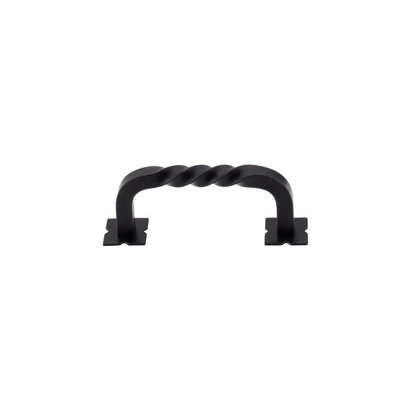 """Top Knobs M710 Twist 3"""" Center to Center Handle Cabinet Pull from the Normandy Series - patina black - n/a"""