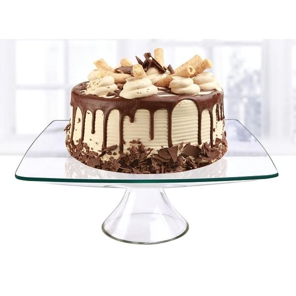 "Palais Glassware Elegent Glass Cupcake or Cake Stand - Party Centerpiece (12"", Square)"