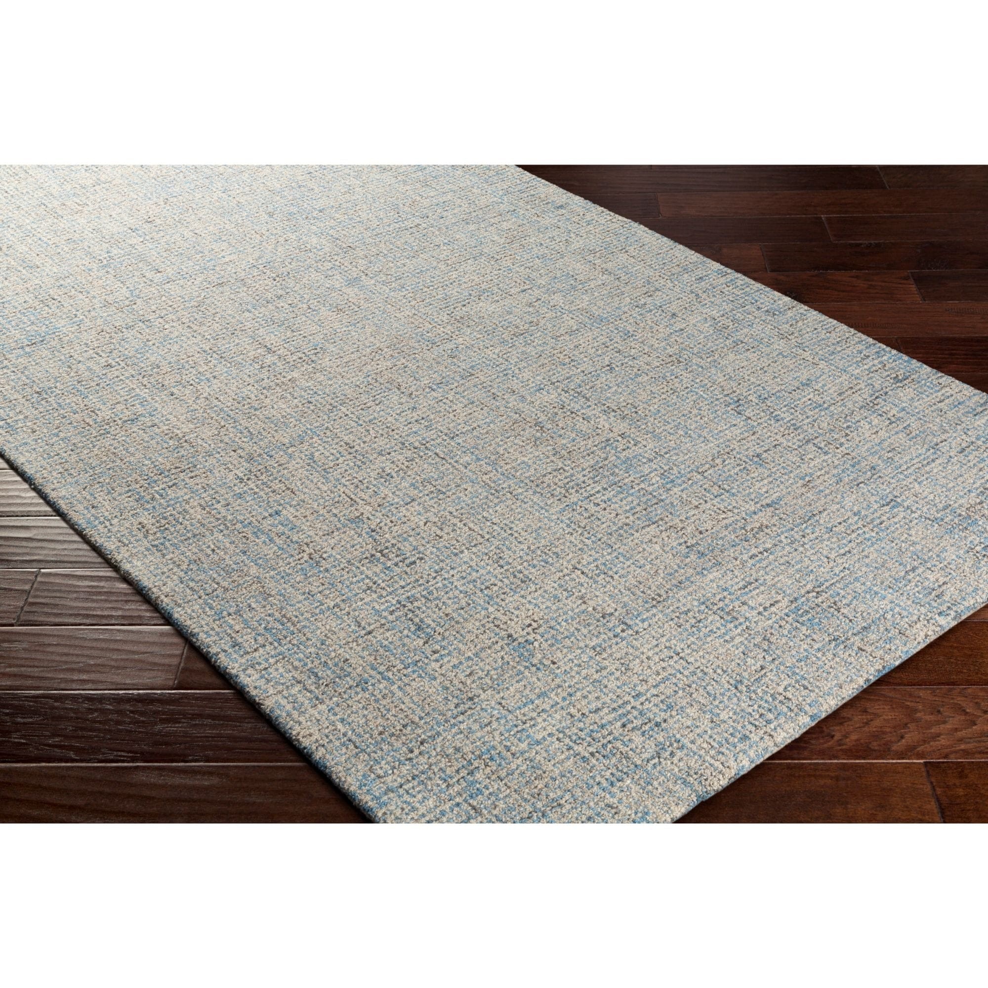 5 X 7 5 Beige And Denim Blue Rectangular Area Throw Rug Overstock 28686561