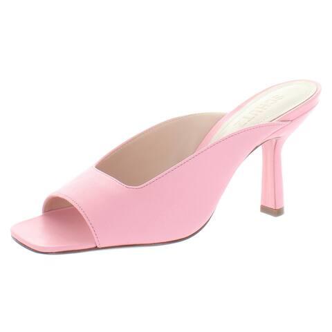 Schutz Womens Agape Kitten Heels Leather Open Toe - Rose Pink - 6.5 Medium (B,M)