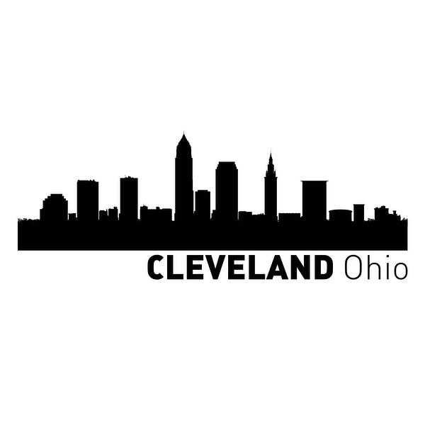 Cleveland, Ohio Vinyl Skylines Vinyl 48x24