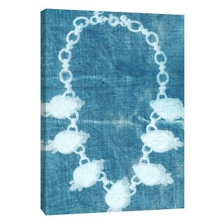 "PTM Images 9-109055  PTM Canvas Collection 10"" x 8"" - ""Cyanotype A"" Giclee Jewelry Art Print on Canvas"