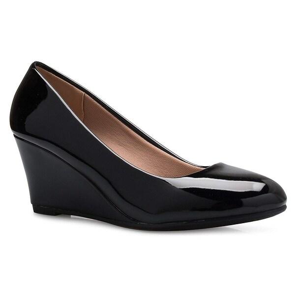 Low Wedge Heel Shoe - Easy