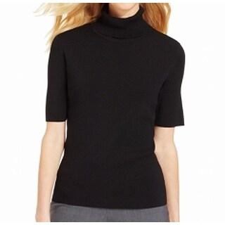 Jones New York NEW Black Women's Size Large L Turtleneck Ribbed Sweater