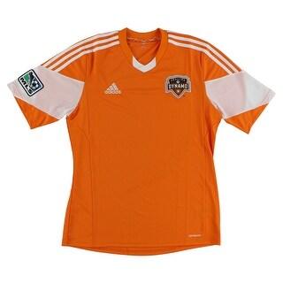 Adidas Mens MLS Dynamo Replica Jersey Orange - Orange/White