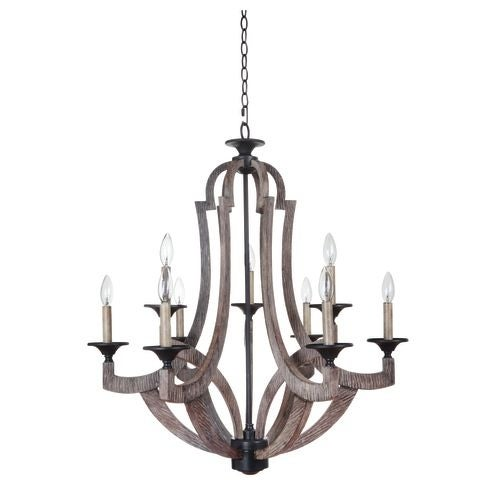 Jeremiah Lighting 35129 Winton Two Tier 9 Light Candle Style Chandelier - 30 Inches Wide