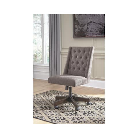 Graphite Vintage Casual Gray Home Office Swivel Desk Chair
