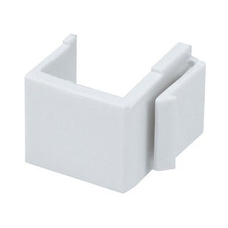 Monoprice Blank Insert For Wall Plate, 10 pcs/pack, White
