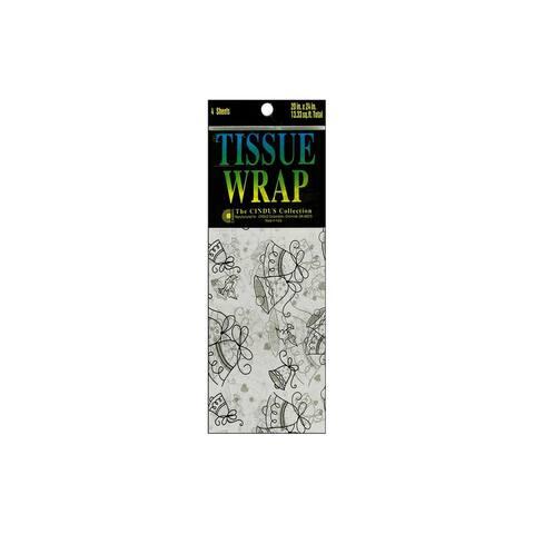 8618 cindus tissue wrap 20x20 4pc printed wedding bells