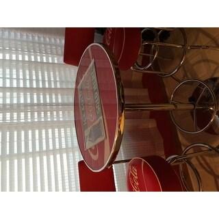 Shop Trademark Gameroom Coca Cola Vinyl Upholstery Metal