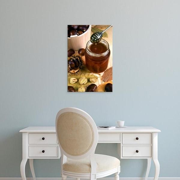Easy Art Prints Nico Tondini's 'Chestnut Honey In Jar' Premium Canvas Art