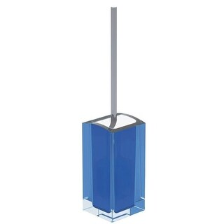 Link to Nameeks AT33 Gedy Free Standing Toilet Brush Holder - Light Blue Similar Items in Bath
