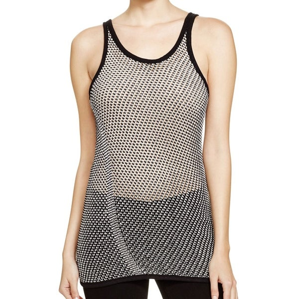 4edee70c9d10 Shop DKNY NEW Black Women s Size Medium M Mesh Pullover Knit Tank Top -  Free Shipping Today - Overstock - 21711023