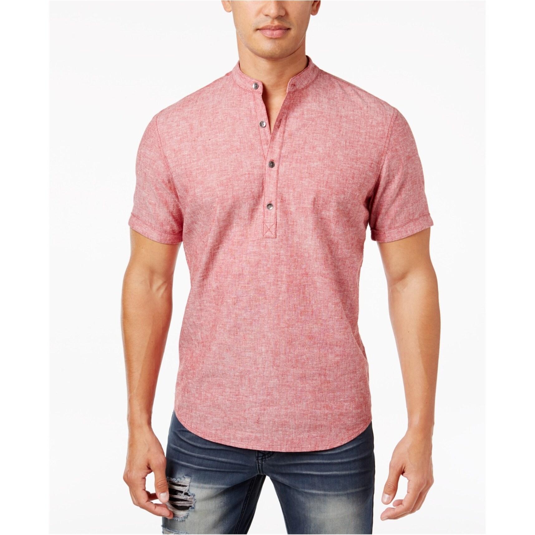 Nanquan Men Fleece V-Neck Long Sleeve Slim Warm Solid T-Shirt Henley Shirts