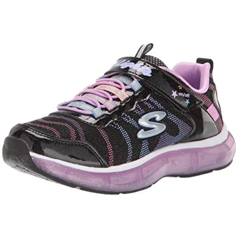 Buy Skechers Kids Girls' S Light It up Sneaker, BlackMulti
