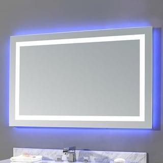 "Miseno MM2843LED 43""W 28""H Rectangular Frameless Wall Mounted Mirror with LED Lighting"