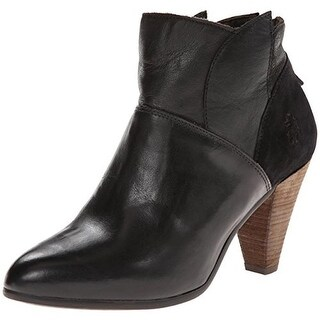 FLY London Womens Gena Ankle Boots Textured Stacked