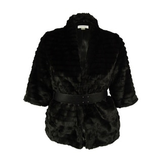 Calvin Klein Women's Belted Faux Fur Jacket - M