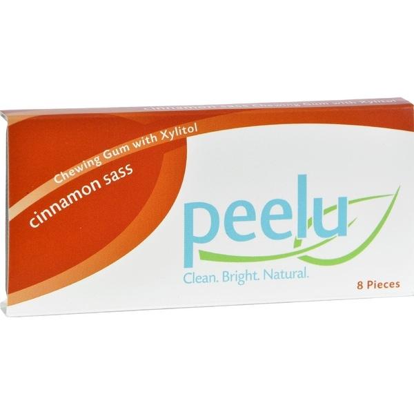 Peelu Chewing Gum Display - Cinnamon Sass - 8 ct - Case of 12