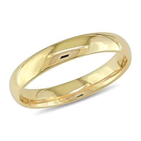 Miadora 14k Yellow Gold Stackable Wedding Band Ring (3mm)