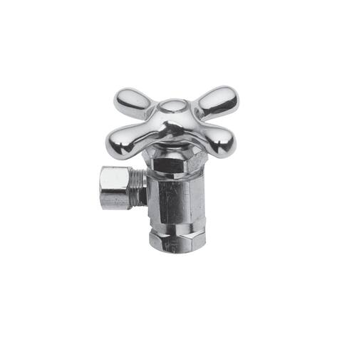 """Brasstech 404X Metal Cross Handle Angle Valve with 3/8"""" IPS Inlet and 3/8"""" O.D. Compression Outlet"""