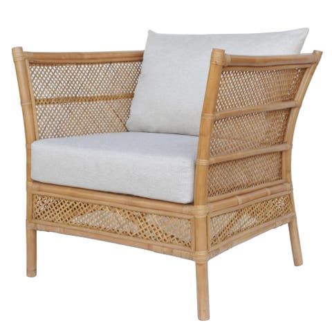 Esai Rattan Accent Arm Chair