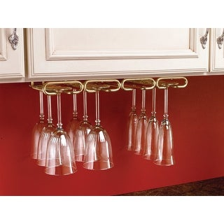 "Rev-A-Shelf 3450-11  3000 Series 11"" Deep Under Cabinet Mount Quad Stemware Holder"