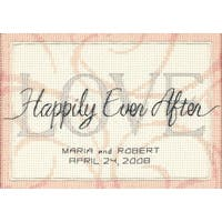 """Happily Ever After Wedding Record Mini Counted Cross Stitch-7""""X5"""" 14 Count - White"""