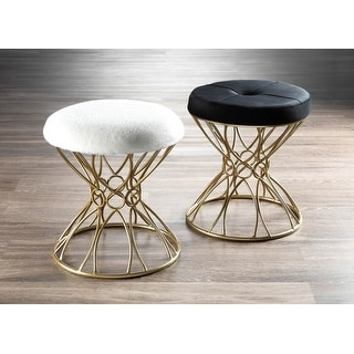Link to Jasmine Glam Gold Vanity Stool Similar Items in Living Room Furniture