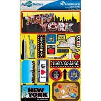 New York - Jet Setters Dimensional Stickers