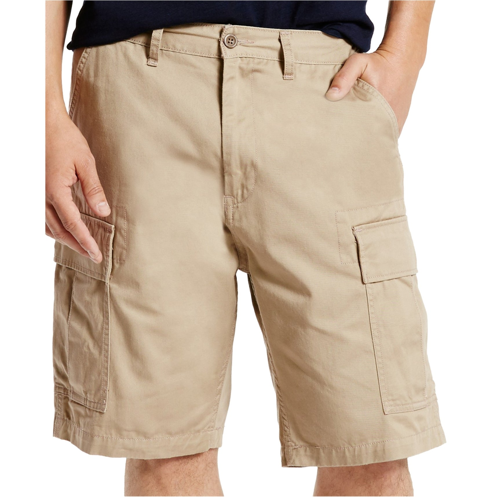 Levi/'s Men/'s Carrier Cargo Cotton Khaki Shorts Sizes Available; 34,40