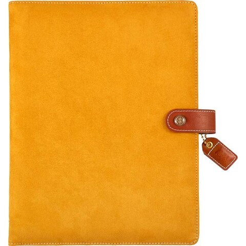 """Mustard Suede - Color Crush A5 Faux Leather Composition Planner 7.5""""X10"""""""