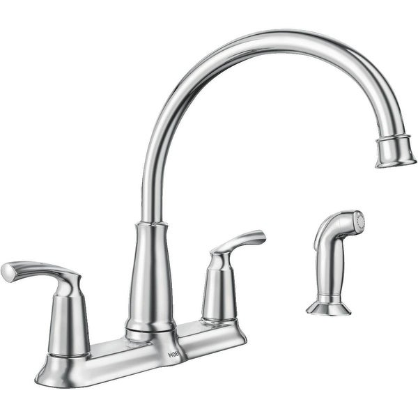 Shop Moen 87403 Bexley Two Handle High Arc Kitchen Faucet With Side