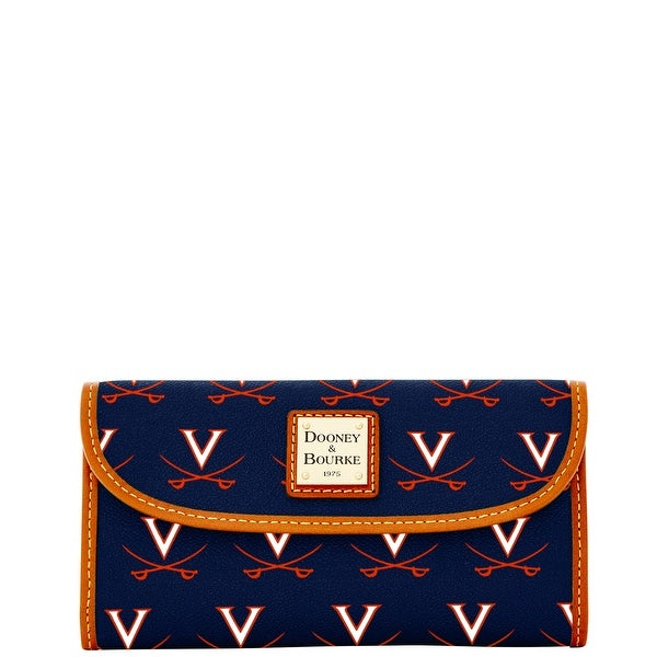 Dooney & Bourke NCAA Virginia Continental Clutch (Introduced by Dooney & Bourke at $128 in Jul 2015) - Navy