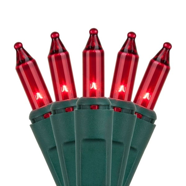 "Wintergreen Lighting 15185 17.5' Long Indoor Standard 35 Mini Light Holiday Light Strand with 6"" Spacing and Green Wire"